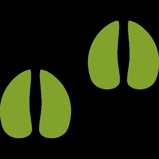 Klauenabdruck-grün